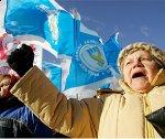 Ещё один пикет против США в Крыму !
