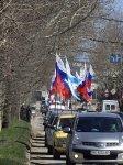 (Видео) Одновременный автопробег под российскими и Андреевскими флагами в Симферополе и Севастополе пытались запретить
