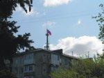 Российский флаг над пл.Ленина в г.Симферополь. (ВИДЕО, ФОТО)