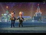 Украинские СМИ: мультик с Медведевым и Путиным - жлобский, он оскорбляет Ющенко (ВИДЕО)